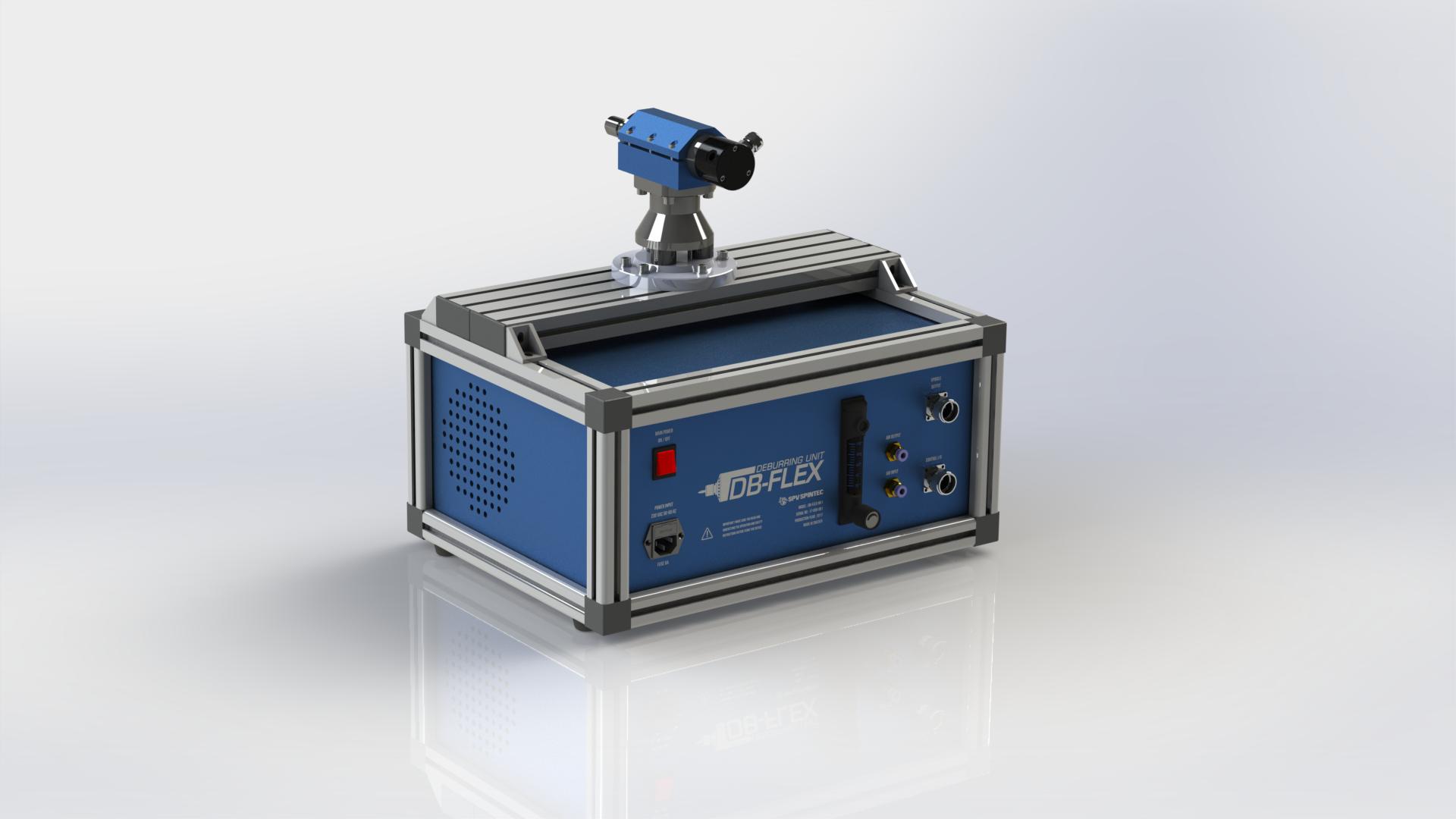 DB-Flex - Komplett lösning där robot för maskinbetjäning kan användas för att grada detaljer.