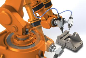 SPV Spintec spindel monterad på robot